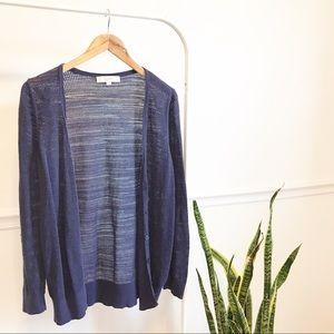 Loft   purple cardigan sweater XL